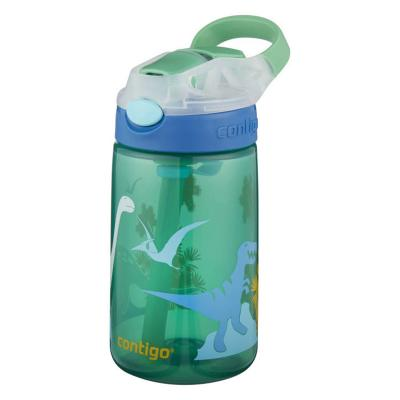 Contigo Gizmo Kids Drink Bottle Flip Autospout 420ml | Green Jungle Dino