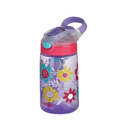 Contigo Gizmo Kids Drink Bottle Flip Autospout 420ml | Flowers | Leak Proof