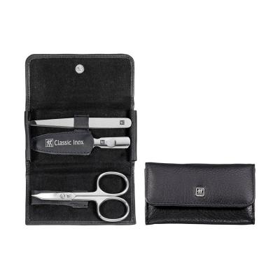 Zwilling - CLASSIC INOX MANICURE SETS  Pocket Case Neat's Leather 3pc
