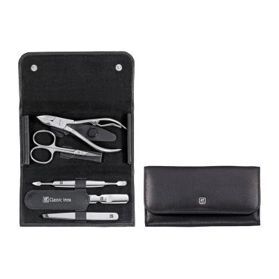 Zwilling - CLASSIC INOX MANICURE SETS Snap Fastener Case Leather 5pc