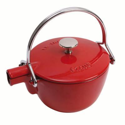 Staub  - Round Teapot/Kettle - 1.15L Cherry Red