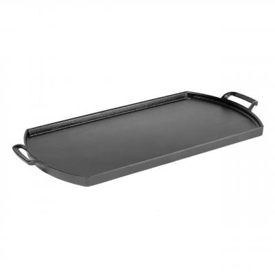 Blacklock by Lodge Cast Iron Double Burner Griddle | Triple Seasoned Light Weight