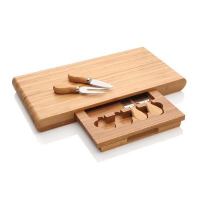Stanley Rogers Cheese Board 5pcs Set | Large Bambo Chopping Block + Cutlery