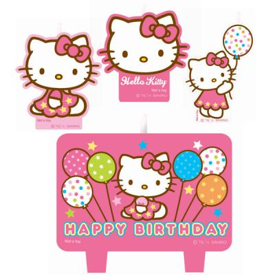 Hello Kitty Birthday Candle Set Birthday Cake Decorations