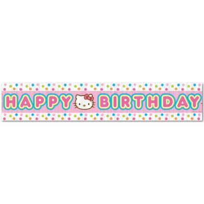 Hello Kitty Hanging Crepe Streamer Birthday Party Decorations