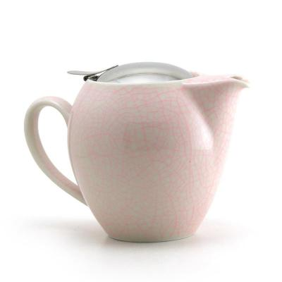 Zero Japan Pink Artisan Crackle Universal Teapot 580ml | Handmade in Japan