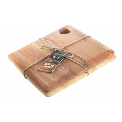 Ironwood Sandwich Wooden Serving Boards Twin Pack | Set of 2pcs | 25 x 25 x 1.2cm