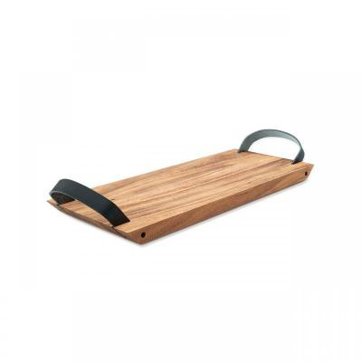 Ironwood Florence Serving Board with Leather Handles Small | Made of Acacia Wood | 42 x 16 x 1.9cm