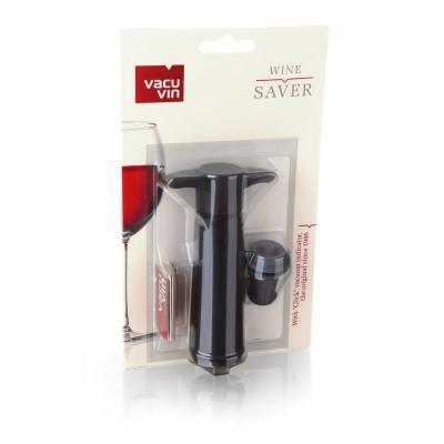 Vacu Vin Wine Saver Pack, Black ( Pump, 1 Wine Stopper)