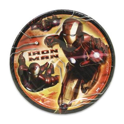 Iron Man Party Paper Plates Large - 8 Pack