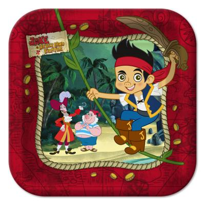 Jake and the Neverland Pirates Small Paper Plates - 8 Pack