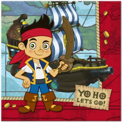 Jake and the Neverland Pirates Luncheon Napkins / Serviettes