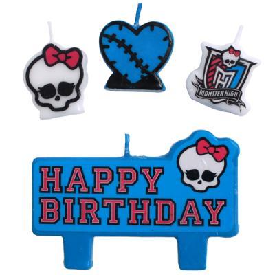 Monster High Birthday Candle Set Birthday Cake Decorations