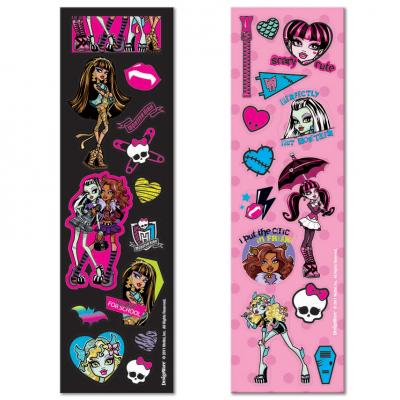 Monster High Stickers 8 Sticker Sheets Party Favours