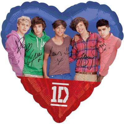 One Direction Foil Helium Balloon