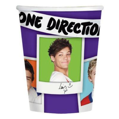 One Direction Paper Party Cups - 8 Pack