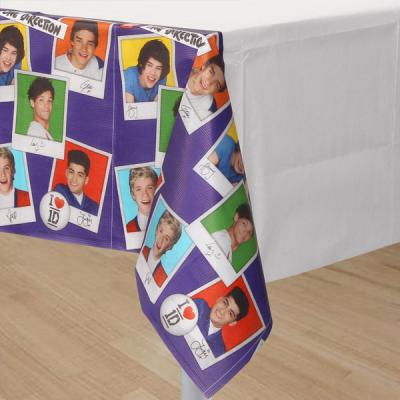 One Direction Plastic Tablecloth