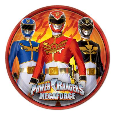 Power Rangers Small Paper Plates - 8 Pack