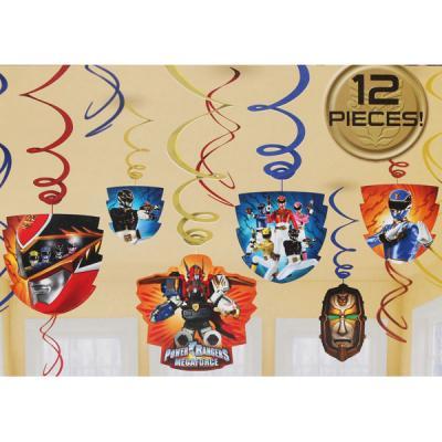 Power Rangers Hanging Swirl Decorations