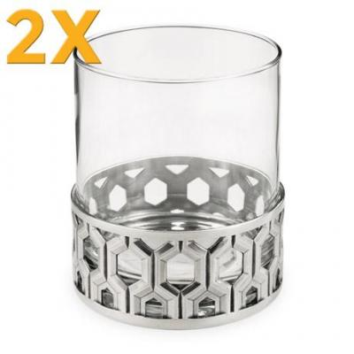 2x Royal Selangor Hexagon Whisky Tumbler