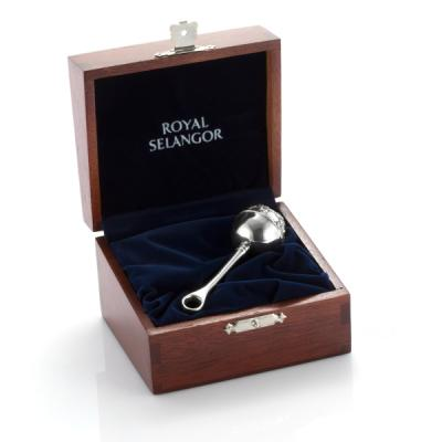Royal Selangor Baby Rattle in Wooden Gift Box