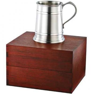 Royal Selangor Straight Sided Tankard in Wooden Gift Box 450ml