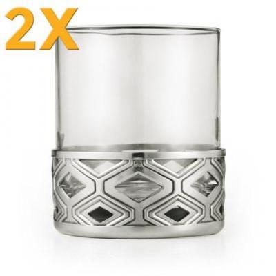 2x Royal Selangor Diamond Whisky Tumbler