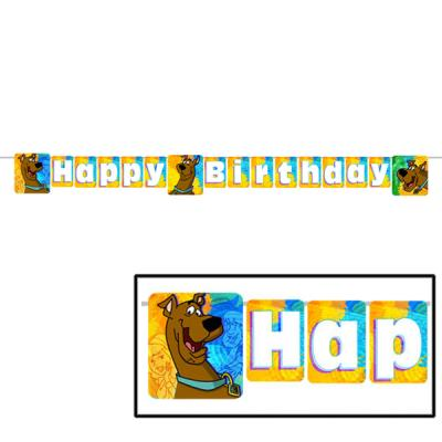 Scooby Doo Birthday Banner Birthday Party Decorations