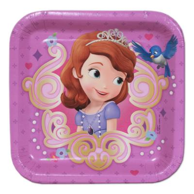 Sofia the First Small Paper Plates - 8 Pack