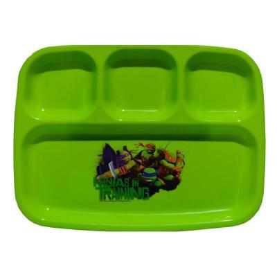 Teenage Mutant Ninja Turtles Sectioned Plate Kids Plastic Reusable Dinner Plate New Licensed