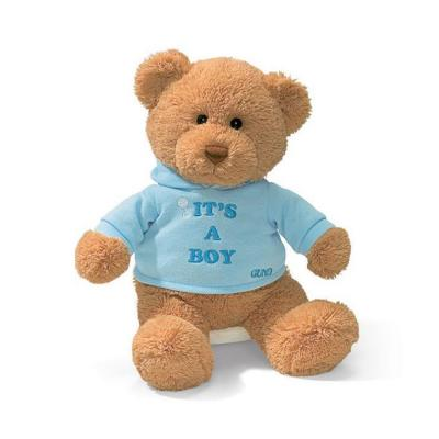 Gund 15418 Its A Boy Message Teddy Bear Stuffed Animal Plush