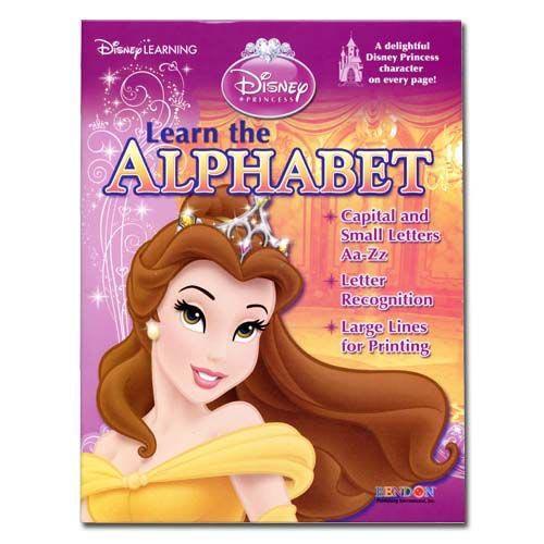 Disney Princess Workbook Alphabet