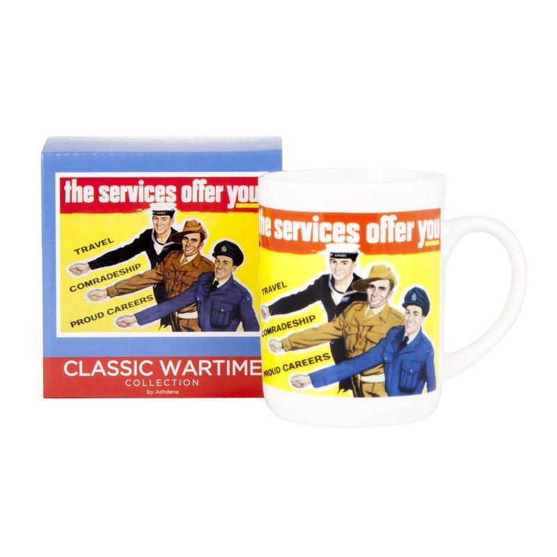 Ashdene Classic Wartime Collection Mug - Servicemen