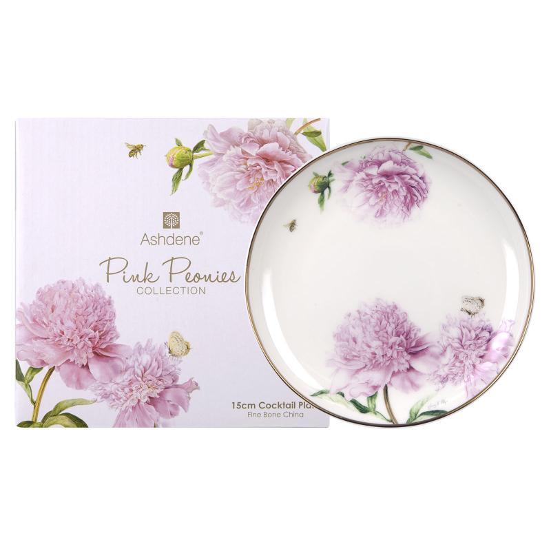 Ashdene Pink Peonies Plate