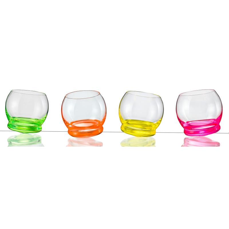 Bohemia Crystal Neon Spinning Shot Glass 60ml/4pc