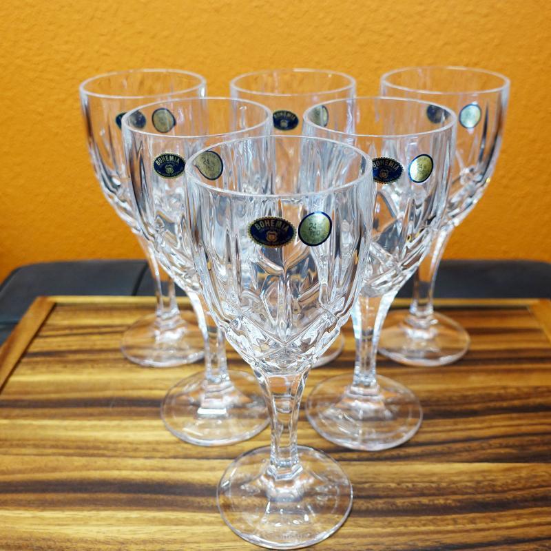 Bohemia Crystal Sheffield Wine Glass Goblet 330ml 6pcs