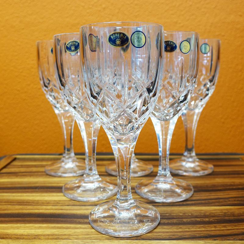 Bohemia Crystal Sheffield Wine Glasses 240ml 6pcs