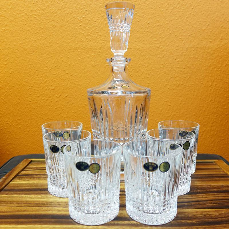 Bohemia Crystal BEDFORD 7pcs Whisky Set