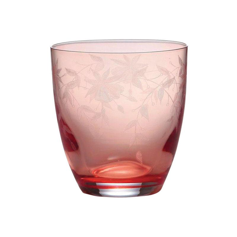 Bohemia Crystal Floral Old Fashion Tumbler 300ml | Set of 6pcs
