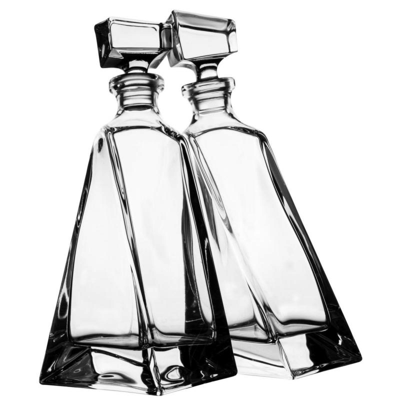 Bohemia Crystal Lovers Decanters 750ml/2pc