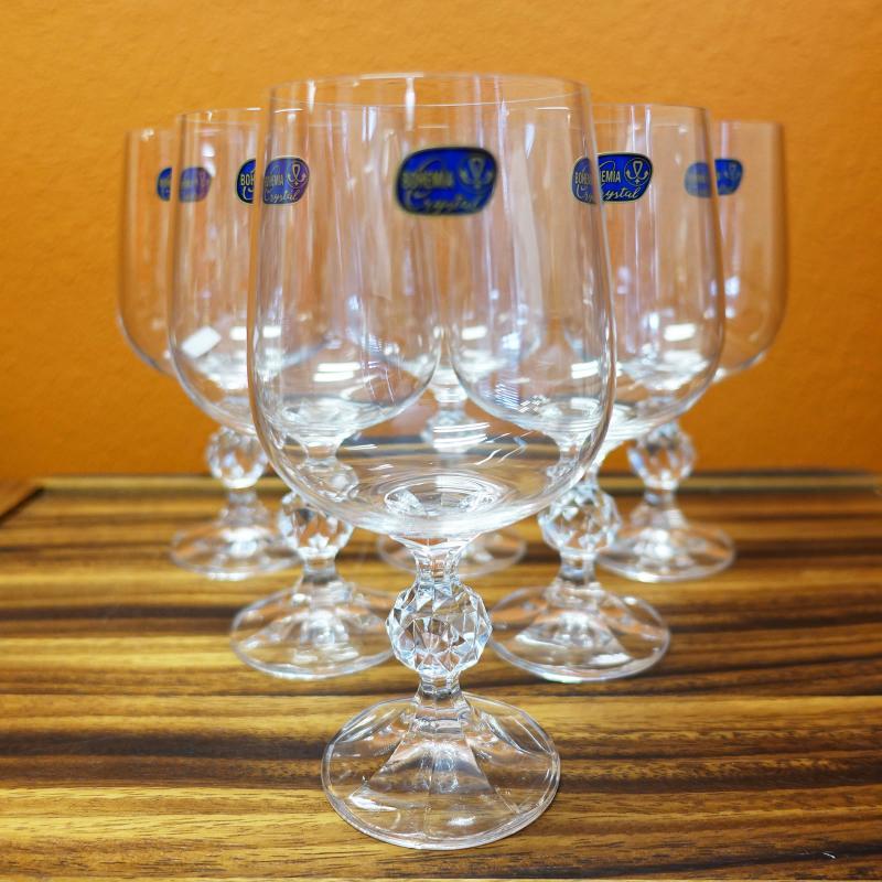 Bohemia Crystal CLAUDIA Wine Glass Goblet 340ml 6pcs