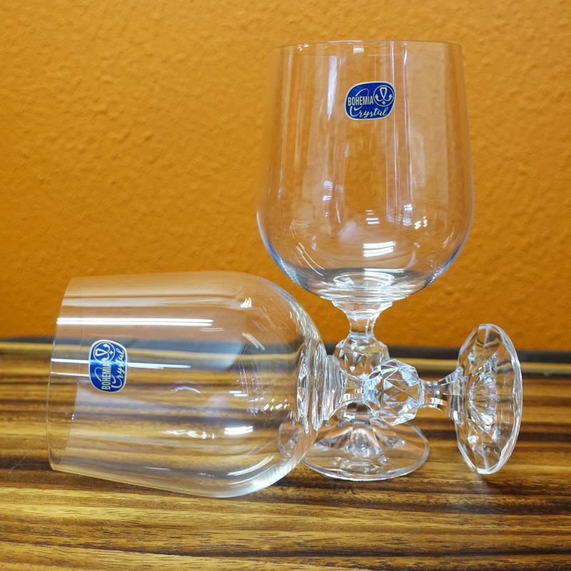 Bohemia Crystal CLAUDIA Wine Glass Goblet 455ml 6pcs