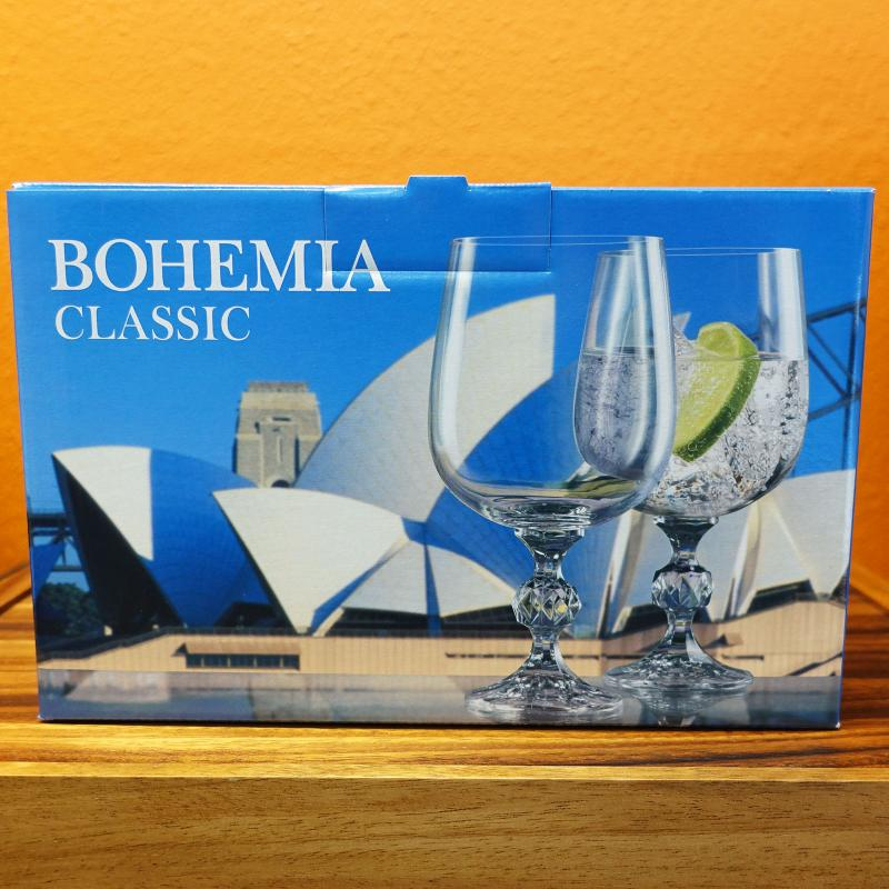 Bohemia Crystal CLAUDIA Wine Glass Goblet 455ml 6pcs