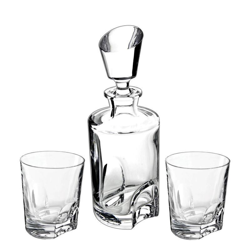 Bohemia Crystal Torneo 3 Pcs Whisky Decanter Set