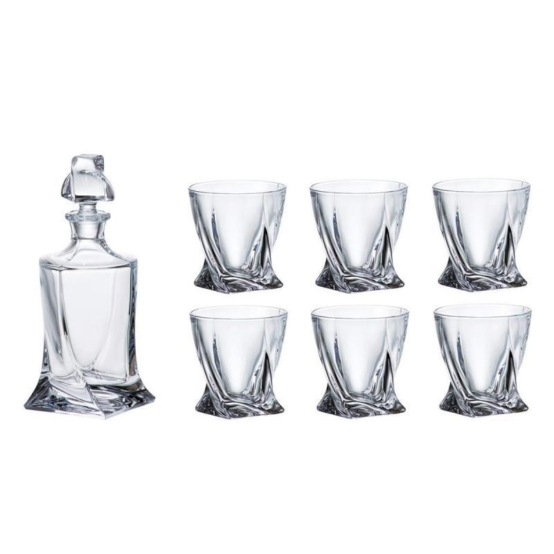 Bohemia Crystal Quadro 7pcs Whiskey Set