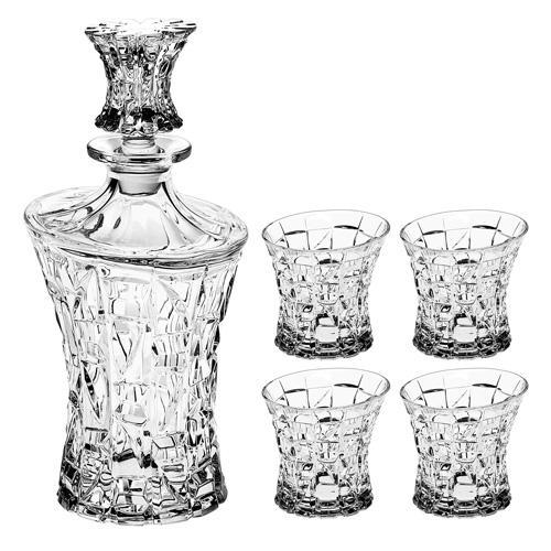 Bohemia Crystal Patriot 5 Piece Whisky Set
