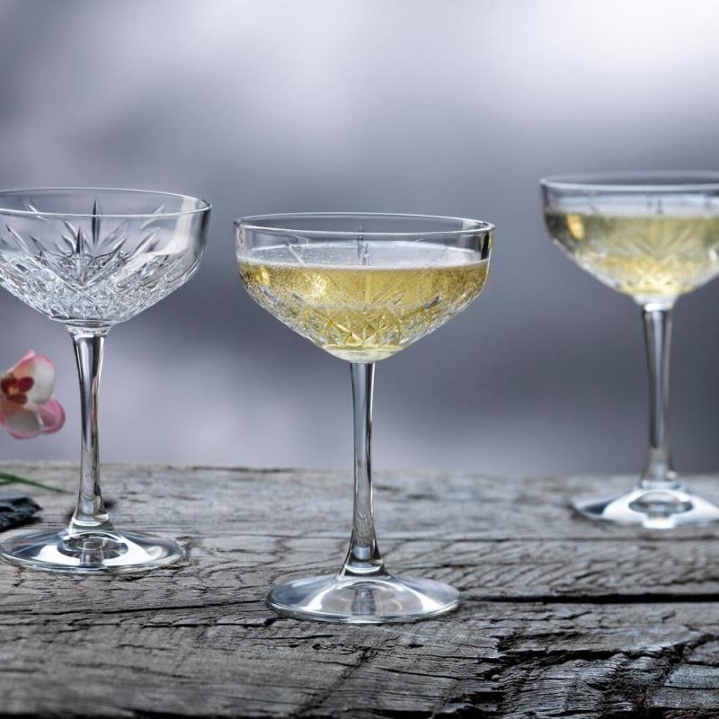 Pasabahce Timeless Champagne Saucer 255ml Set of 4