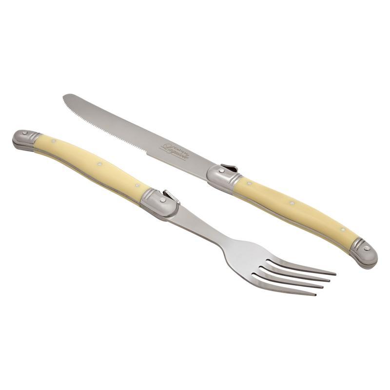 Chateau Laguiole 24pcs Cutlery Set Ivory Pattern