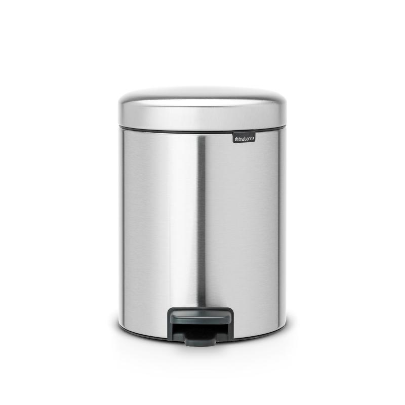 Brabantia Pedal Bin Newicon 5L Matt Steel | Soft Closing