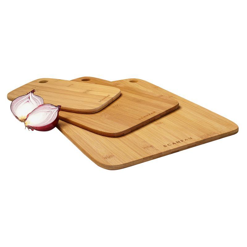 Scanpan Bamboo 3 Piece Cutting Board Set